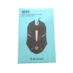 BerLincell Mouse Gaming LED RGB 1200 DPI - M20 - Black - 2