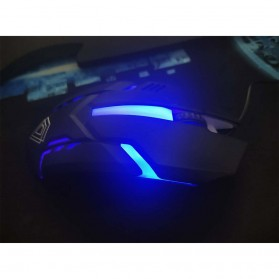 BerLincell Mouse Gaming LED RGB 1200 DPI - M20 - Black - 3