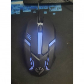 BerLincell Mouse Gaming LED RGB 1200 DPI - M20 - Black - 4