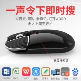 Smart AI Mouse Wireless with Translation Voice Function - M203 - Black