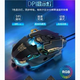 Ura Gaming Mouse RGB DPI Sensor Foot Pad - MK101 - Black - 3