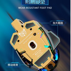 Ura Gaming Mouse RGB DPI Sensor Foot Pad - MK101 - Black - 4