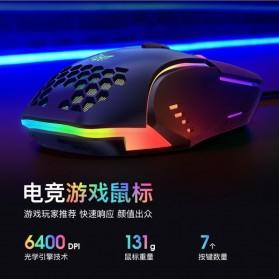 Onikuma Gaming Mouse RGB 6400 DPI Sensor With 7 Key - CW902 - Black - 3