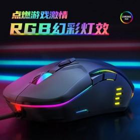 Onikuma Gaming Mouse RGB 6400 DPI Sensor With 7 Key - CW902 - Black - 4