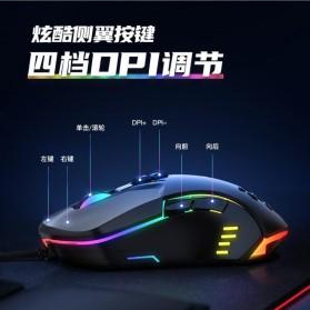 Onikuma Gaming Mouse RGB 6400 DPI Sensor With 7 Key - CW902 - Black - 5