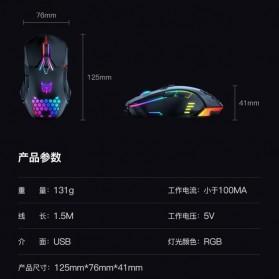 Onikuma Gaming Mouse RGB 6400 DPI Sensor With 7 Key - CW902 - Black - 7