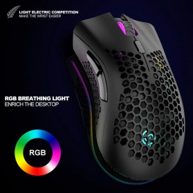 K-SNAKE Mouse Gaming Wireless RGB Honeycomb 3 DPI Gear 2.4GHz - BM600 - Black - 4