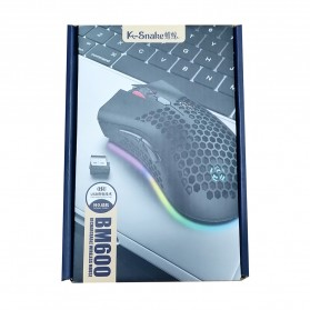 K-SNAKE Mouse Gaming Wireless RGB Honeycomb 3 DPI Gear 2.4GHz - BM600 - Black - 8