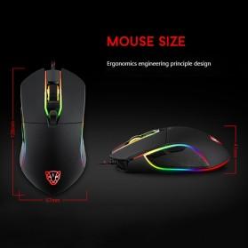 MOTOSPEED Optical Gaming Mouse Macro with RGB Backlight - V30 - Black - 3