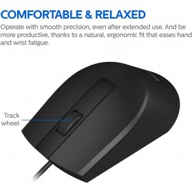 Philips Mouse M104 Wired Optical 1000 DPI - SPK7104 - Black - 2