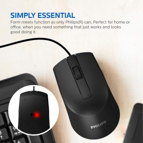 Philips Mouse M104 Wired Optical 1000 DPI - SPK7104 - Black - 4