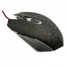 AUW Mouse Gaming Optical dengan Dazzle Color Red LED - SD-P505 - Black - 2