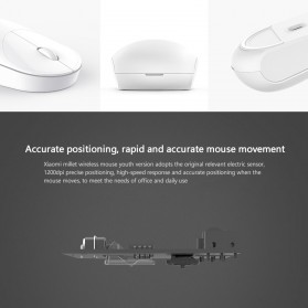 Xiaomi Youth Edition Wireless Portable Mouse - WXSB01MW (ORIGINAL) - Black - 4