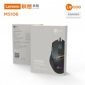 Lenovo Lecoo Mouse Wired Optical - MS106 - Black - 3