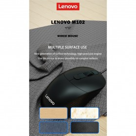 Lenovo Mouse Wired Optical - M102 - Black - 7