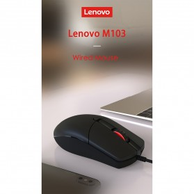 Lenovo Mouse Wired Optical - M103 - Black - 7