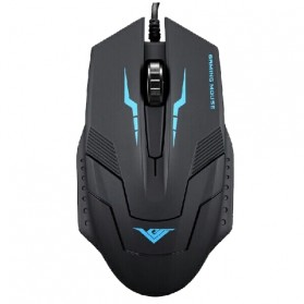 Rajfoo i5 Optical Wired USB Gaming Mouse 1600 DPI - Black/Blue