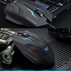 Rajfoo i5 Optical Wired USB Gaming Mouse 1600 DPI - Black/Blue - 2