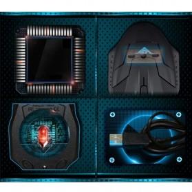 Rajfoo i5 Optical Wired USB Gaming Mouse 1600 DPI - Black/Blue - 7