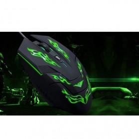 Rajfoo i5 Mouse Gaming USB dengan Cahaya LED - Black - 4