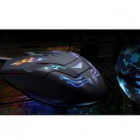 Rajfoo i5 Mouse Gaming USB dengan Cahaya LED - Black - 5