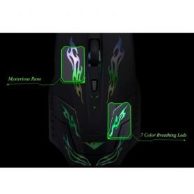 Rajfoo i5 Mouse Gaming USB dengan Cahaya LED - Black - 9