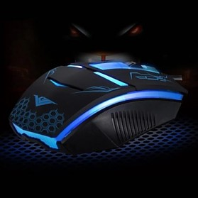 Rajfoo Terminator Professional Gaming Mouse 1600 DPI - Black - 3