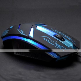 Rajfoo Terminator Professional Gaming Mouse 1600 DPI - Black - 8
