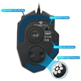 Rocketek Mouse Gaming Macro MMORPG 19 Buttons 16400 DPI - Black - 5