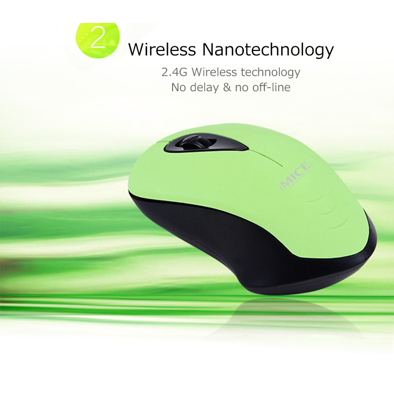2 iMice Ergonomic Optical Wireless Mouse 2.4GHz - Black - 3 .