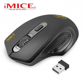 iMice Wireless Gaming Mouse 2000 DPI - Normal Version - E-1800 - Black - 2