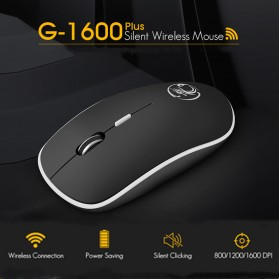 iMice Super Slim Silent Optical Wireless Mouse 2.4GHz 1600DPI - G-1600 - Black