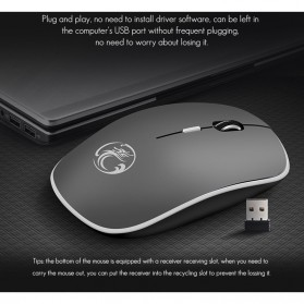 iMice Super Slim Silent Optical Wireless Mouse 2.4GHz 1600DPI - G-1600 - Black - 9