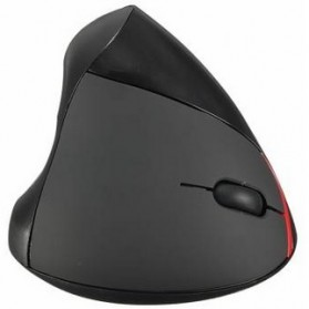 Vertical Wireless Optical Mouse with 5 Function Keys - Black - 4