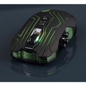 Ghost Shark Aokdis LED Optical Wireless Gaming Mouse 9D 3200 DPI - Black - 2