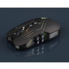 Ghost Shark Aokdis LED Optical Wireless Gaming Mouse 9D 3200 DPI - Black - 3