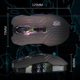 Ghost Shark Aokdis LED Optical Wireless Gaming Mouse 9D 3200 DPI - Black - 7