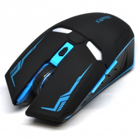 NAFEE Iron Man Wireless Mouse Gaming Mute Button Silent Click 2.4Ghz - G5 - Black - 2