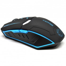 NAFEE Iron Man Wireless Mouse Gaming Mute Button Silent Click 2.4Ghz - Black - 3