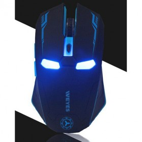 NAFEE Iron Man Wireless Mouse Gaming Mute Button Silent Click 2.4Ghz - Black - 6