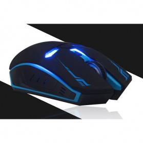 NAFEE Iron Man Wireless Mouse Gaming Mute Button Silent Click 2.4Ghz - Black - 7