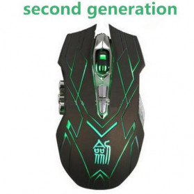Ghost Shark Aokdis Gaming Wireless Mouse 4000 DPI Rechargerable JS-X9 - Brown/Black