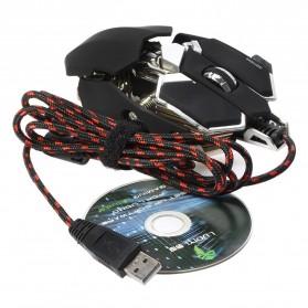 LUOM G10 Mouse Gaming LED Optical 4000 DPI - Black - 5