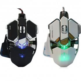 LUOM G10 Mouse Gaming LED Optical 4000 DPI - Black - 6