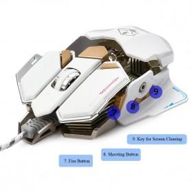 LUOM G10 Mouse Gaming LED Optical 4000 DPI - Black - 8