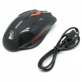 Azzor Mouse Gaming Wireless Rechargeable USB 2400 DPI 2.4G - Black - 2