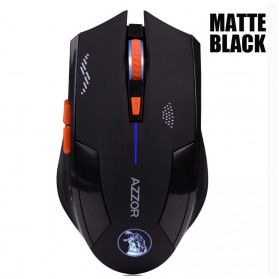 Azzor Mouse Gaming Wireless Rechargeable USB 2400 DPI 2.4G - Black - 5