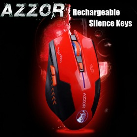 Azzor Mouse Gaming Wireless Rechargeable USB 2400 DPI 2.4G - Black - 6