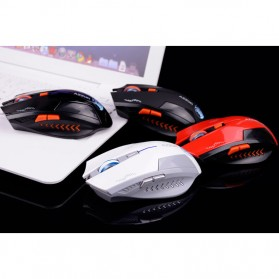 Azzor Mouse Gaming Wireless Rechargeable USB 2400 DPI 2.4G - Black - 7