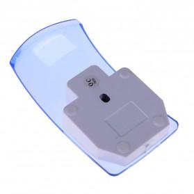 Mouse Wireless Optical Transparan - Blue - 3